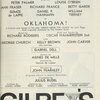 [Program for the 1963 revival of Oklahoma!]