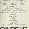 [Program for the 1963 revival of Oklahoma!]