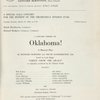 [Program (3/26/1968 ) for a gala benefit concert presentation of Oklahoma! at Lincoln Center (New York, N.Y.)]