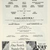 [Program for the 1958 revival of Oklahoma!]