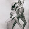 """Melissa Hayden and Hugh Laing as the leaders of the leaves and flowers in Balanchine's """"Bayou"""""""