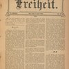 Freiheit. Vol. 25, No. 14. (Front page)
