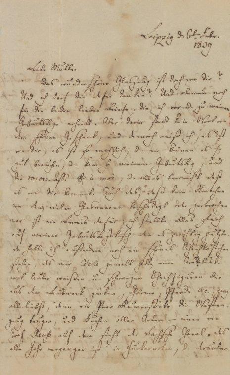 Fascinating Historical Picture of Felix Mendelssohn-Bartholdy on 2/6/1839