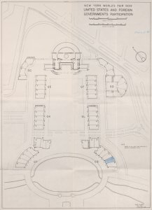 Plan of the Spanish Pavillion place.