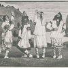 """Four men in a scene from """"Le Sacre du Printemps."""""""