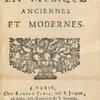 Des representations en musique anciennes et modernes. (Title page)