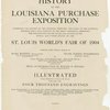 History of the Louisiana purchase exposition, ... (Title page)