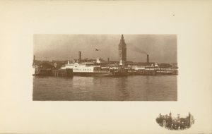 [Ferry house before the fire, view from bay]