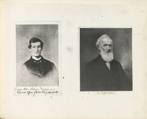 [Photographs of Eugene Blair, shot gun messenger and special officer for Wells, Fargo & Company, and Henry Wells]