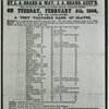 Credit sale of a choice gang of 41 slaves… By J.A. Beard & May. Banks' Arcade Magazine Street [New Orleans], Tuesday, February 5, 1856.