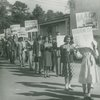 N.A.A.C.P. conference delegates protesting establishment of segregated Texas State University for Negroes, in Houston, Texas, ca. 1947
