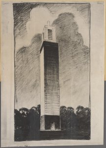 Drawing of tower /1938 March 18 /drawing