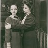 Eugenia Rawls and Tallulah Bankhead in a scene from The Little Foxes