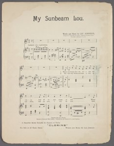 My Sunbeam Lou / words and music by Lee Johnson.