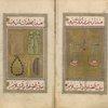 Prophet Muhammad's prayer mat, prayer beads, toothbrush, and comb