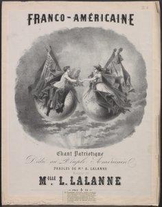 Franco-américaine : chant patriotique. / Max. Lalanne.