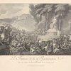 La fontaine de la Régénération sur les débris de la Bastille, le 10 Août 1793.