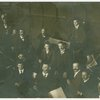 Bruno Walter with orchestra, Prinzregenten Theater, Munich, 1915.
