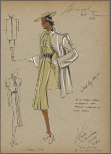 André Fashion Illustrations from NYPL's Picture Collection
