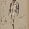Short straight coat with fur sleeves.]