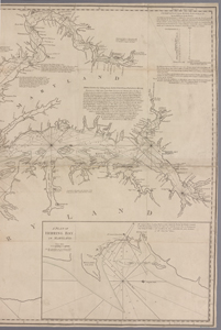 A new and accurate chart of the Bay of Chesapeake : with all the shoals, channels, islands, entrances, soundings, and sailing-marks, as far as the navigable part of the rivers Patowmack, Patapsco and north-east / drawn from several draughts made by the most experienced navigators, chiefly from those of Anthony Smith, pilot of St. Marys, and compared with the modern surveys of Virginia and Maryland.