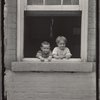 Two children in a window, Pittsburgh