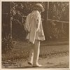 Six photographs of SLC strolling in white suit at Tuxedo, Aug. 1907. SLC walking away, profile.