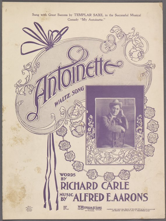 Antoinette / words by Richard Carle ; music by Alfred E. Aarons.
