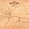 Map showing the Union Pacific Railway and connecting rail roads, 1881.