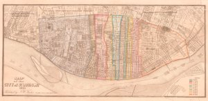 Map of the city of St. Louis, Mo., 1861.
