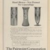 "Ad: The Pairpoint Corporation - ""Pairpoint Genuine Hand-Cut Glass Strictly Hand Blown - Not Pressed - No Camouflage."""