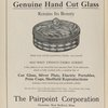 "Ad: The Pairpoint Corporation - ""Pairpoint Genuine Hand Cut Glass - Retains Its Beauty."""