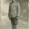 Pvt. Joe Jones of the 369th Infantry Regiment, also known as the Harlem Hellfighters, during World War I