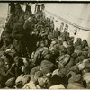 Black American soldiers aboard a ship during World War I