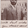 "Marcus Garvey: ""Your obedient servant.""]"