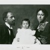 W.E. B. DuBois with his wife Nina and daughter Yolande ca. 1901]