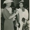 Marian Anderson receives the Spingarn Medal of the NAACP from First Lady Eleanor Roosevelt