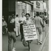 "Daisy Bates takes a walk - Activist Daisy Bates picketing with placard: ""Jailing our youth will not solve the problem in Little Rock. We are only asking for full citizenship rights."""