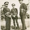 Three Universal African Legion officers: Lt. J. Harris, Major T. Wallace and Lt. I. Dinzey.