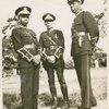 Three Universal African Legion officers: Lt. J. Harris, Major T. Wallace and Lt. I. Dinzey.