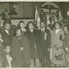 Scene from welcome given to Lij Araya and his wife upon their arrival in the United States in September 1938, by members of the Ethiopian World Federation.
