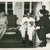 Kwame Nkrumah and his wife, Fathia, presenting a gold watch to W.E.B. DuBois on the occasion of his 95th birthday, Feb. 23, 1963
