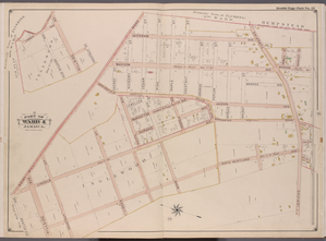 Queens, V. 1, Double Page Plate No. 15; Part of Jamaica, Ward 4; [Map bounded by Flushing (3rd Ward) boundary line, Jericho Tpk., North Wertland Ave., Rocky Hill Rd.]