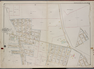 Queens, V. 1, Double Page Plate No. 22; Part of Jamaica, Ward 4; [Map bounded by Rockaway Tpk., Central Ave., Van Wyck Ave.; Rockaway Tpk., Florida Way, Mill St., Newcomb Ave.]