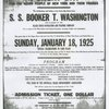 Advertisement announcing  the launching of the  ocean liner  S. S.  Booker T. Washington
