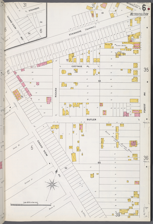 Queens V. 3, Plate No. 6 [Map bounded by Stanhope, Forest Ave., Grand View Ave.]