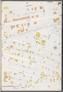 Queens V. 3, Plate No.14 [Map bounded by Summerfield, Rathjen Pl., New St., Cooper Ave., Cypress Hills Plank Road]