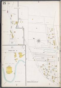 Queens V. 3, Plate No. 25 [Map bounded by Ridgewood Park, Eastern Parkway, Vermont Ave.]