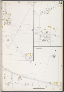 Queens V. 3, Plate No. 54 [Map bounded by Maurice Ave., Columbia Ave., Jay Ave.; Bushwick and Newtown Tpk., Townsend Ave.; Lutheran Cemetery, Edsall Ave., Folsom Ave.]