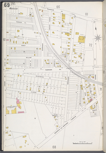 Queens V. 3, Plate No. 69 [Map bounded by Woodside Ave., Bowne Ave., Bushwick and Newtown Tpk., Covert Ave.]